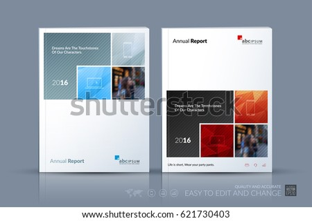 Business vector template. Brochure design, cover modern layout annual report, poster, flyer in A4 with colourful abstract rectangular shapes for construction, teamwork theme with texture background.