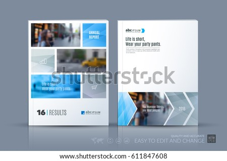 Business vector template. Brochure layout, cover modern design annual report, poster, flyer in A4 with grey geometric shapes and grey lines for construction with abstract texture background.