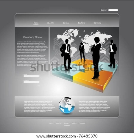 business vector web template