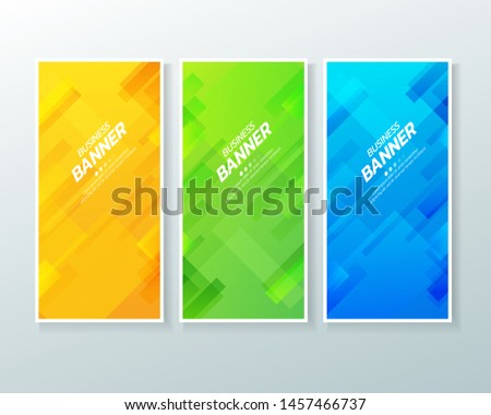 Business vertical banner design template .