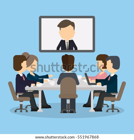 business video conference in