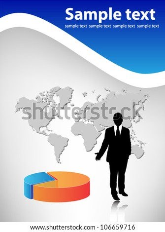 Business visit card - stock vector