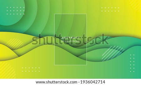 business wavy papercut abstract background. vector illustration for web