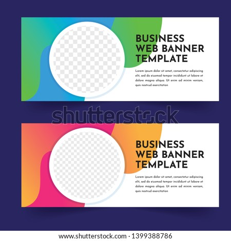 business web banner template design