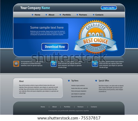 Business web site design template