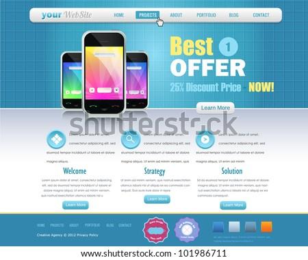 Business Website design vector elements