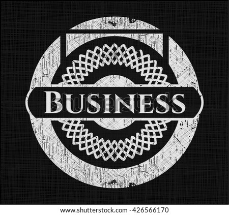 Business with chalkboard texture