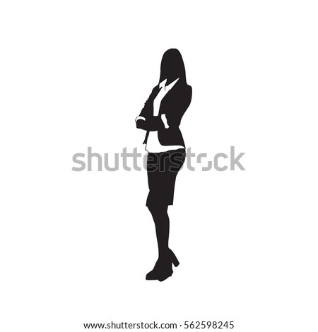 business woman black silhouette