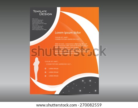 business woman brochure