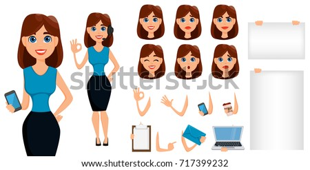 business woman cartoon