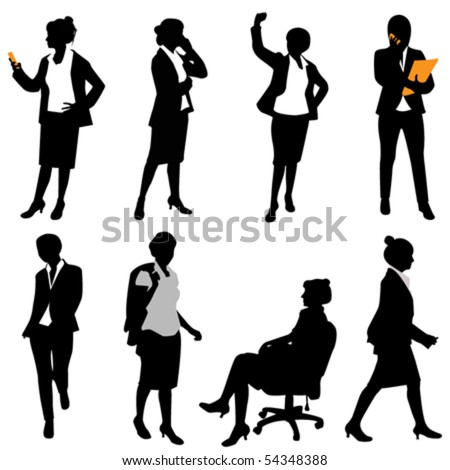 business woman (different positions)