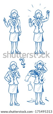business woman illustration in