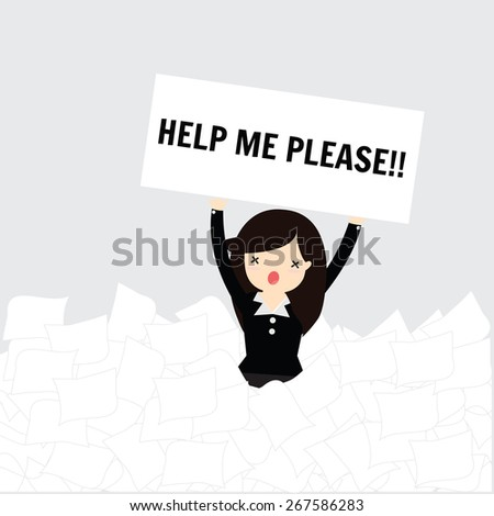 business woman need help under