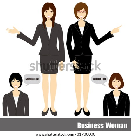 Business woman set. Illustration vector.
