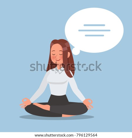 business woman thinking character vector design