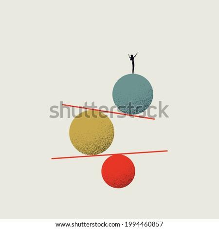 Business woman work life balance career opportunity vector symbol. Job opportunity, career top minimal eps10 illustration.