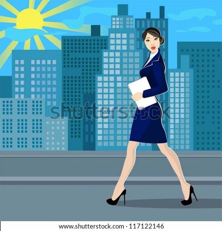 business women in the street