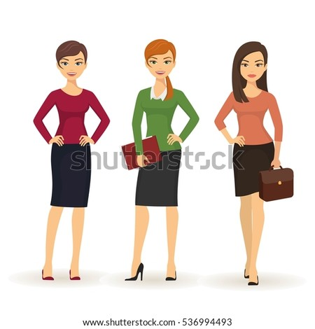 business women in various poses