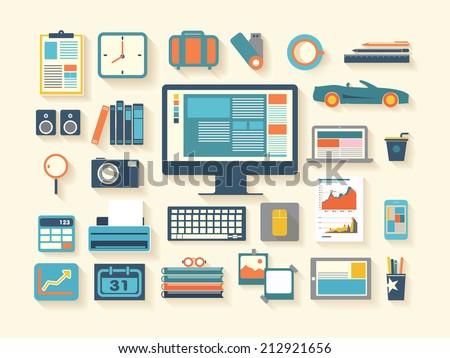 business work flash design illustration