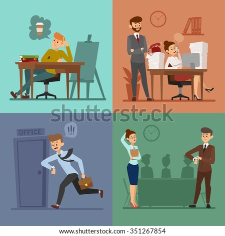 business work time lag vector