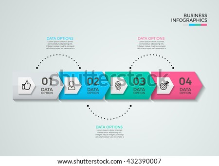 Business Workflow Process infographics vector illustration template design.
