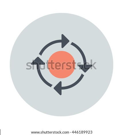 Business Workflow Vector Icon