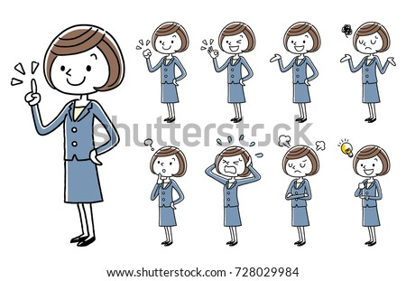 Business: Young women, sets, variations