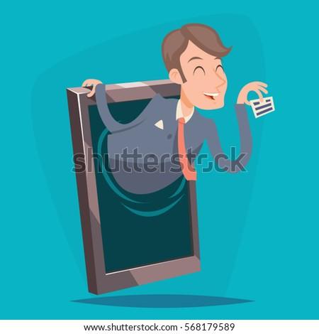 businessman agent online mobile
