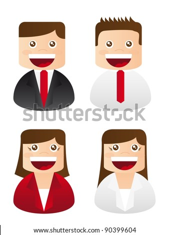 businessman and business woman icons. vector illustration
