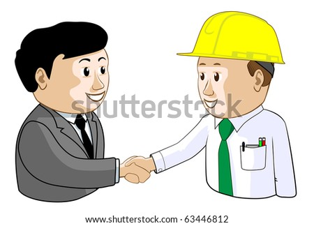 Businessman and Engineer Agree Illustration : Shutterstock