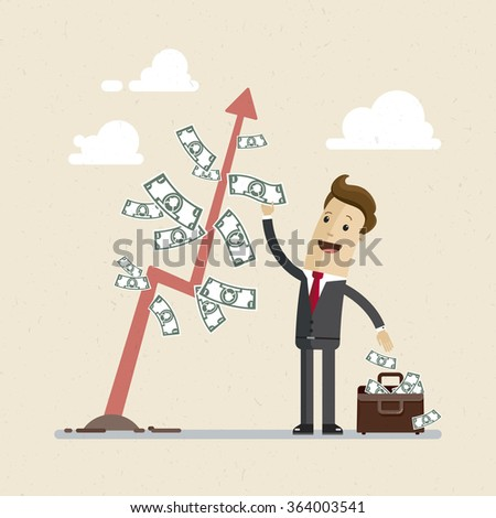 businessman and money tree a