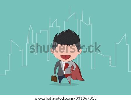 businessman and superbusiness