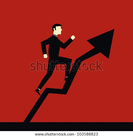 Businessman Arrow Up