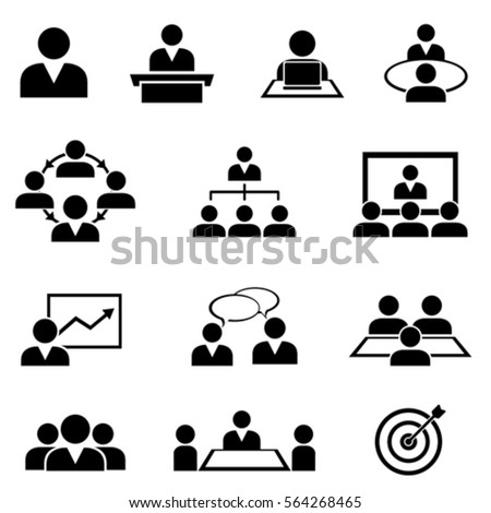 Businessman at meetings, seminars, conference and training