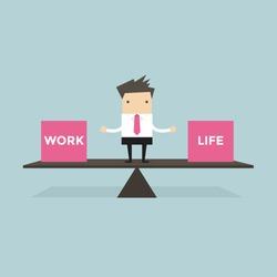 Businessman balance Work and life