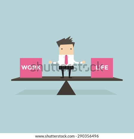 businessman balance work and