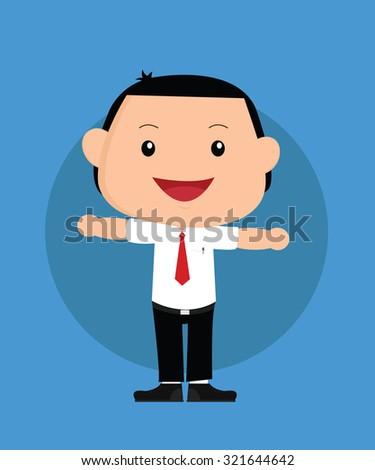 businessman boy or kids vector