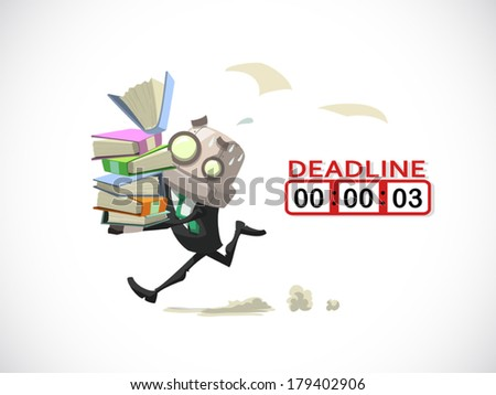 businessman busy on his overload work with deadline date coming, business concept