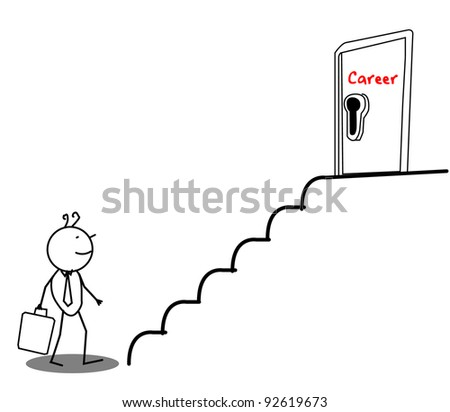 Businessman Career door