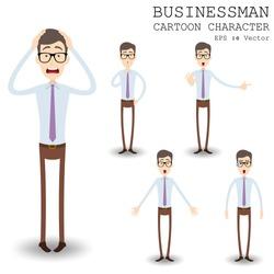 Businessman cartoon character eps 10 vector illustration