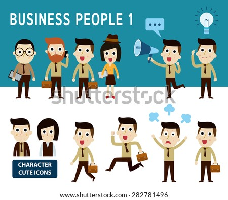 businessman character cartoon