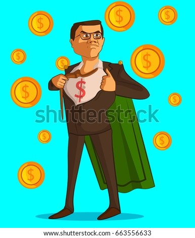 Businessman character with background