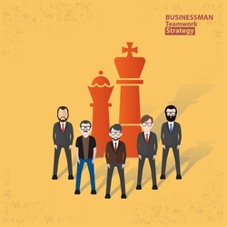Businessman concept design on yellow background,clean vector