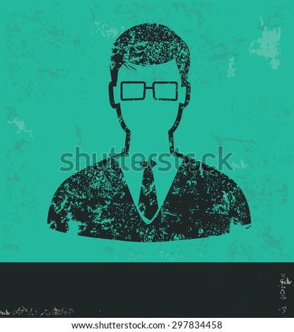businessman design on green