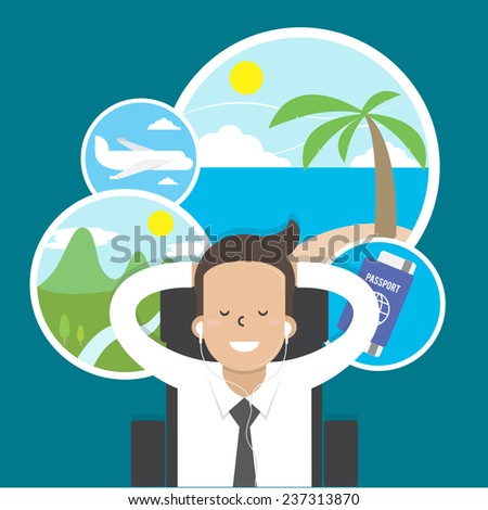 businessman dreaming about