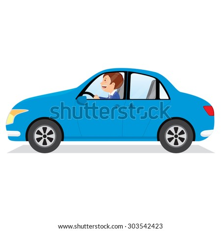 businessman driving car man