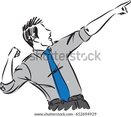 businessman gesture vector illustration