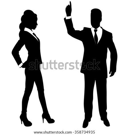 businessman gesturing with