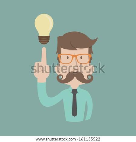 businessman get idea   eps10