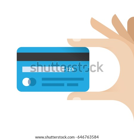Businessman hand holding credit card. Idea - Mobile payment, Online shopping and trading etc.